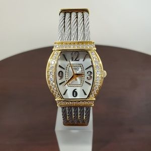 DMQ 30mm Gold Stainless Steel Bangle Womens Watch